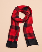 Buffalo Plaid Wool-Blend Scarf 썸네일 이미지 1