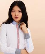 Stripe-Trimmed Supima® Cotton Oxford Shirt 썸네일 이미지 1