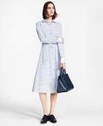 Clip-Dot Supima® Cotton Dobby Shirt Dress 썸네일 이미지 1