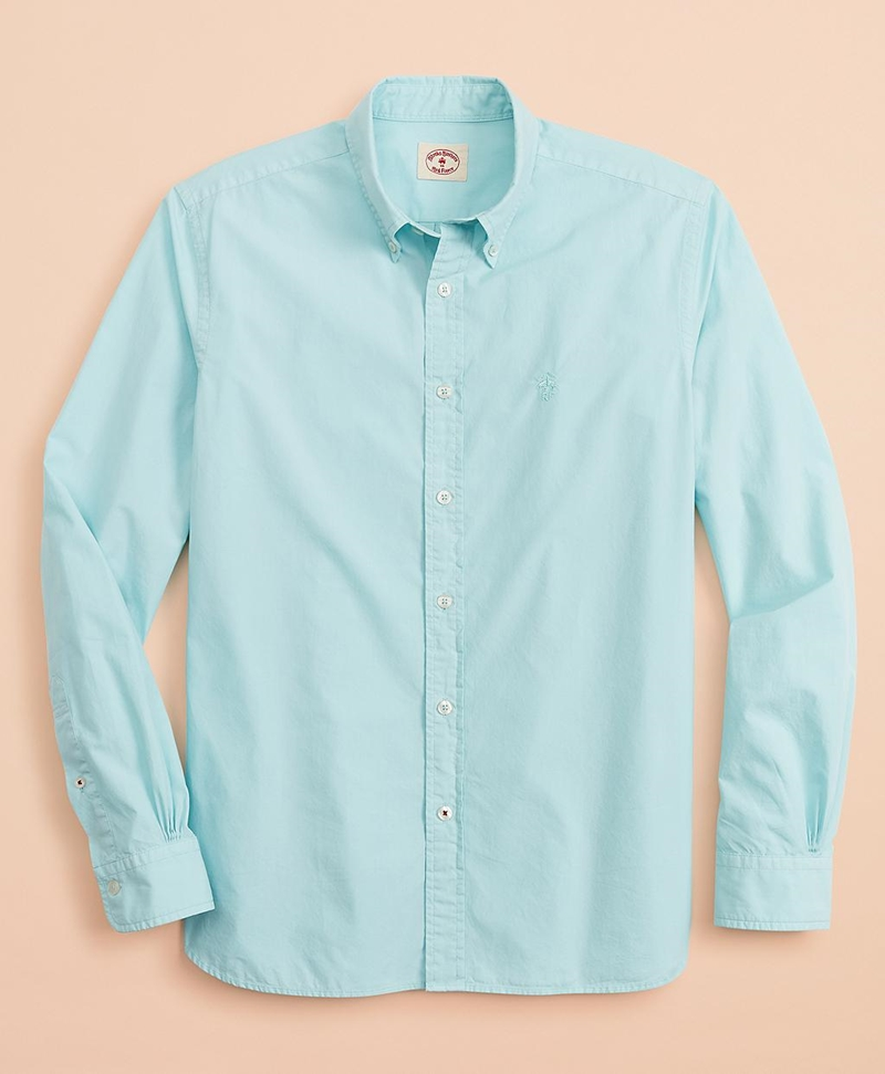 Garment-Dyed Cotton Broadcloth Sport Shirt 썸네일 이미지 1