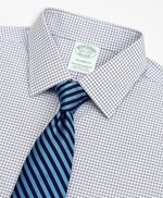 Stretch Milano Slim-Fit Dress Shirt, Non-Iron Poplin Ainsley Collar Small Grid Check 썸네일 이미지 2