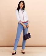 Stripe-Trimmed Supima® Cotton Oxford Shirt 썸네일 이미지 2