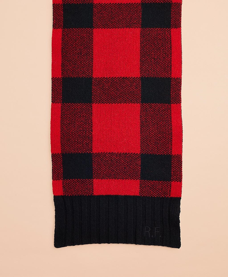 Buffalo Plaid Wool-Blend Scarf 썸네일 이미지 2