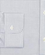 Stretch Milano Slim-Fit Dress Shirt, Non-Iron Poplin Ainsley Collar Small Grid Check 썸네일 이미지 3