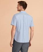 Striped Seersucker Short-Sleeve Shirt 썸네일 이미지 3