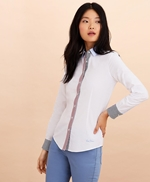 Stripe-Trimmed Supima® Cotton Oxford Shirt 썸네일 이미지 3