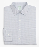 Stretch Milano Slim-Fit Dress Shirt, Non-Iron Poplin Ainsley Collar Small Grid Check 썸네일 이미지 4