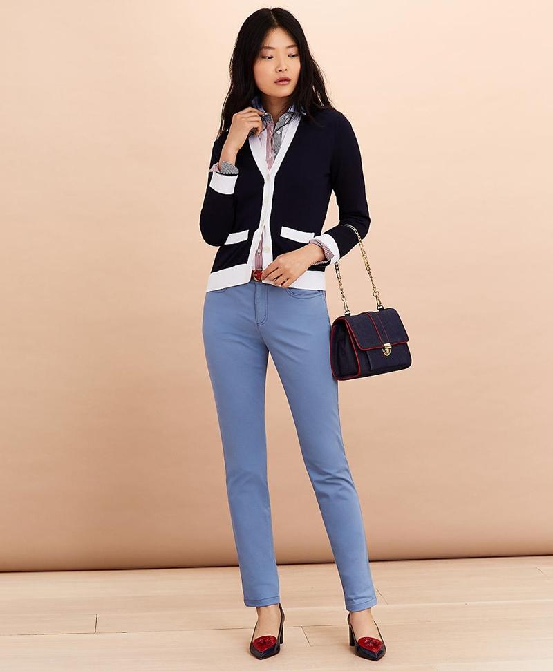Stripe-Trimmed Supima® Cotton Oxford Shirt 썸네일 이미지 4