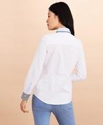 Stripe-Trimmed Supima® Cotton Oxford Shirt 썸네일 이미지 5
